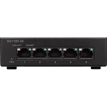 سوئیچ شبکه 5 پورت گیگ سیسکو SG110D-05
