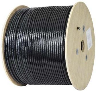 کابل شبکه اوتدور outdoor نگزنس Cat6 SFTP تست پرمننت و چنل روکش PVC حلقه 305 متری
