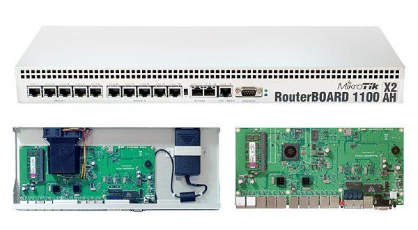 روتر 13 پورت گیگ اترنت میکروتیک RB1100AHx2