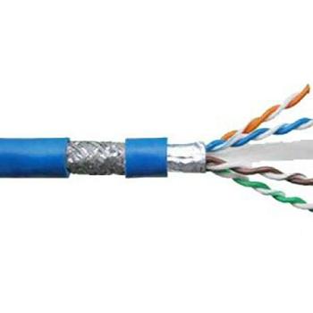 کابل شبکه لگراند Cat6 SFTP فویلدار و شیلد دار با تست چنل و پرمننت روکش LSZH حلقه 500 متری